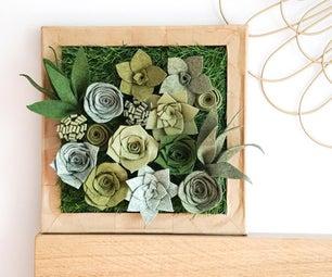 DIY Felt Succulent Display | How to Make Faux Plant Wall Art