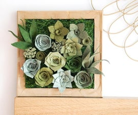 DIY Felt Succulent Display | How to Make Faux Plant Wall Art