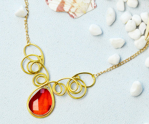 Beebeecraft Tutorials on How to Make a Wrapped Necklace