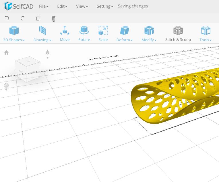 3D Printing Napkin Folding Ring for #selfCADchallenge