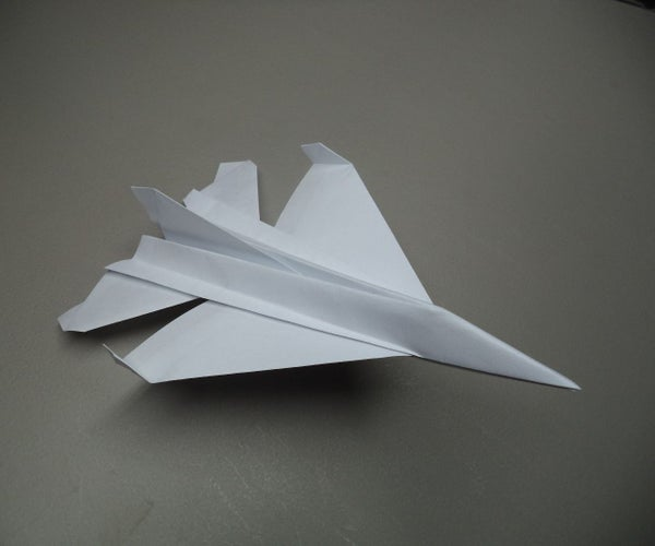 How to Fold an Origami F-16 Plane