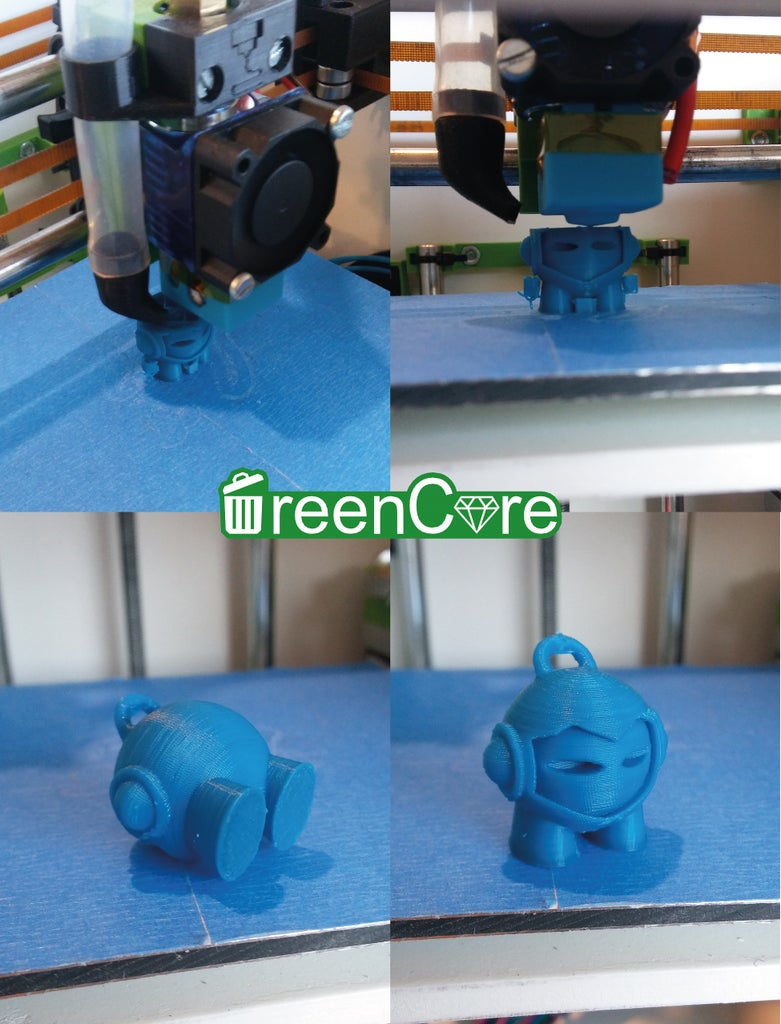 Green Core XY : a 3D Printer With Recycled Components.