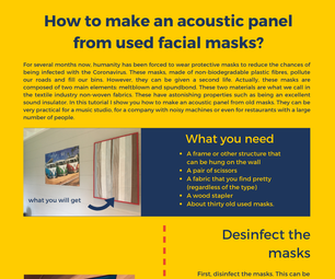 Intro: How to Make an Acoustic Panel From Used Facial Masks?