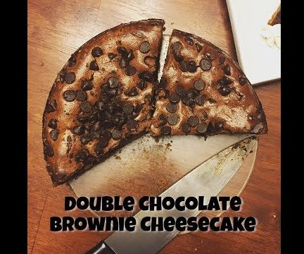 The Best Double Chocolate Brownie Cheesecake