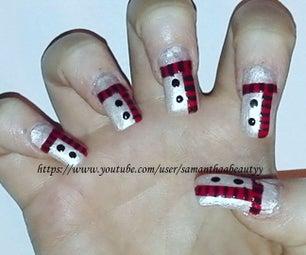 Easy Winter Nail Art Tutorial   Samantha Beauty