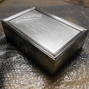 Faux Pewter Trinket Box