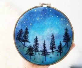 染料织物刺绣箍艺术