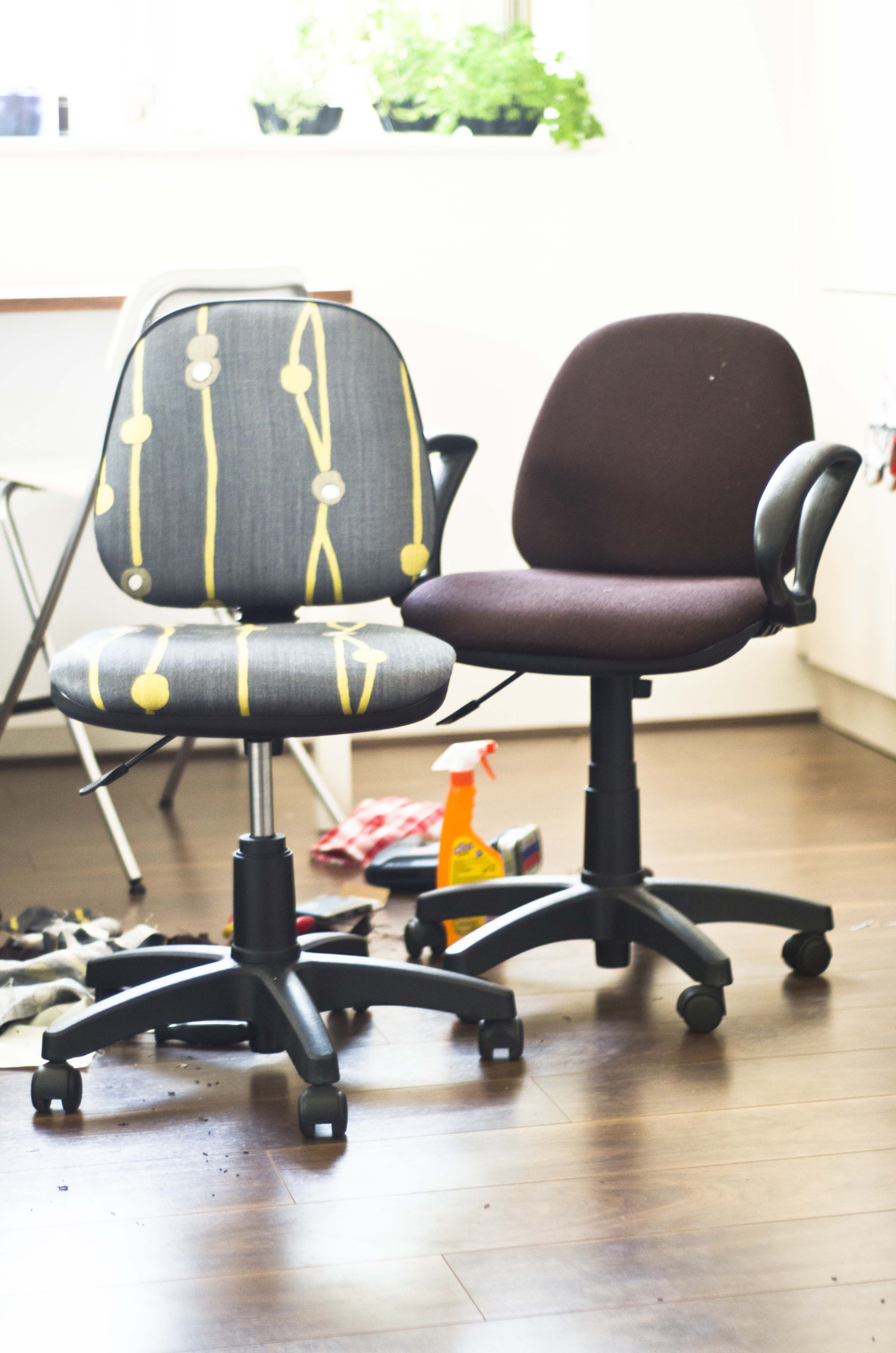 Give Those Old Desk Chairs New Life