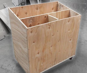DIY移动木材推车