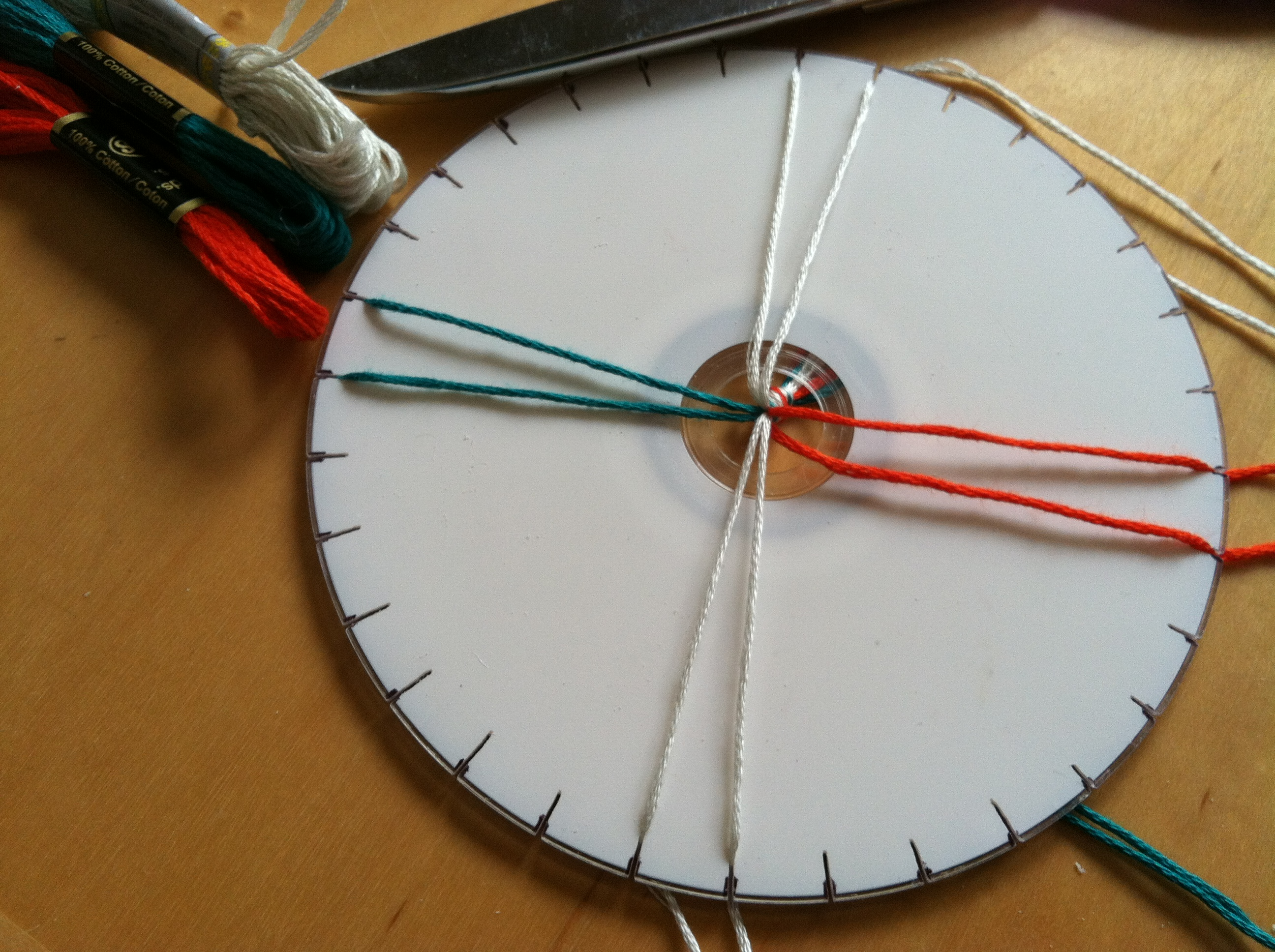 Make a Kumihimo Disk Out of a CD