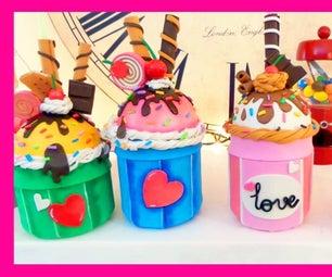 How to Make Ice Cream Cupcake With EVA Foam Recycled Glass Jars