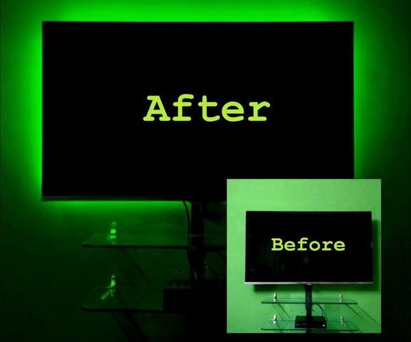 DIY Cheap LED TV Backlight - a Layman's Version