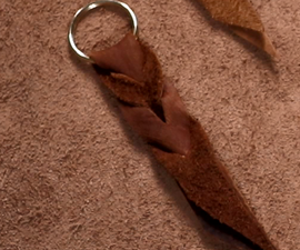 Bleed Knot Leather Keychain