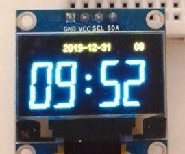 Retro Style OLED Clock Sync Over WiFi