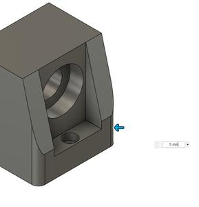 Design Process - Stepper Motor Mount - Bearing Block Extra Steps