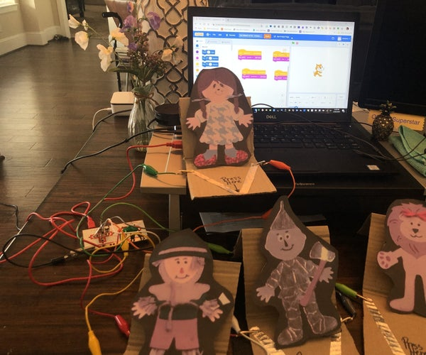 Talking Paper Dolls With Makey Makey and Scratch
