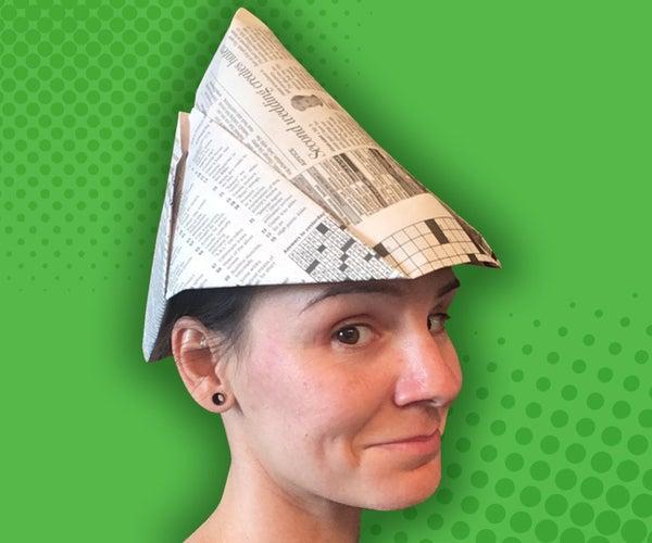 Peter Pan Newspaper Hat
