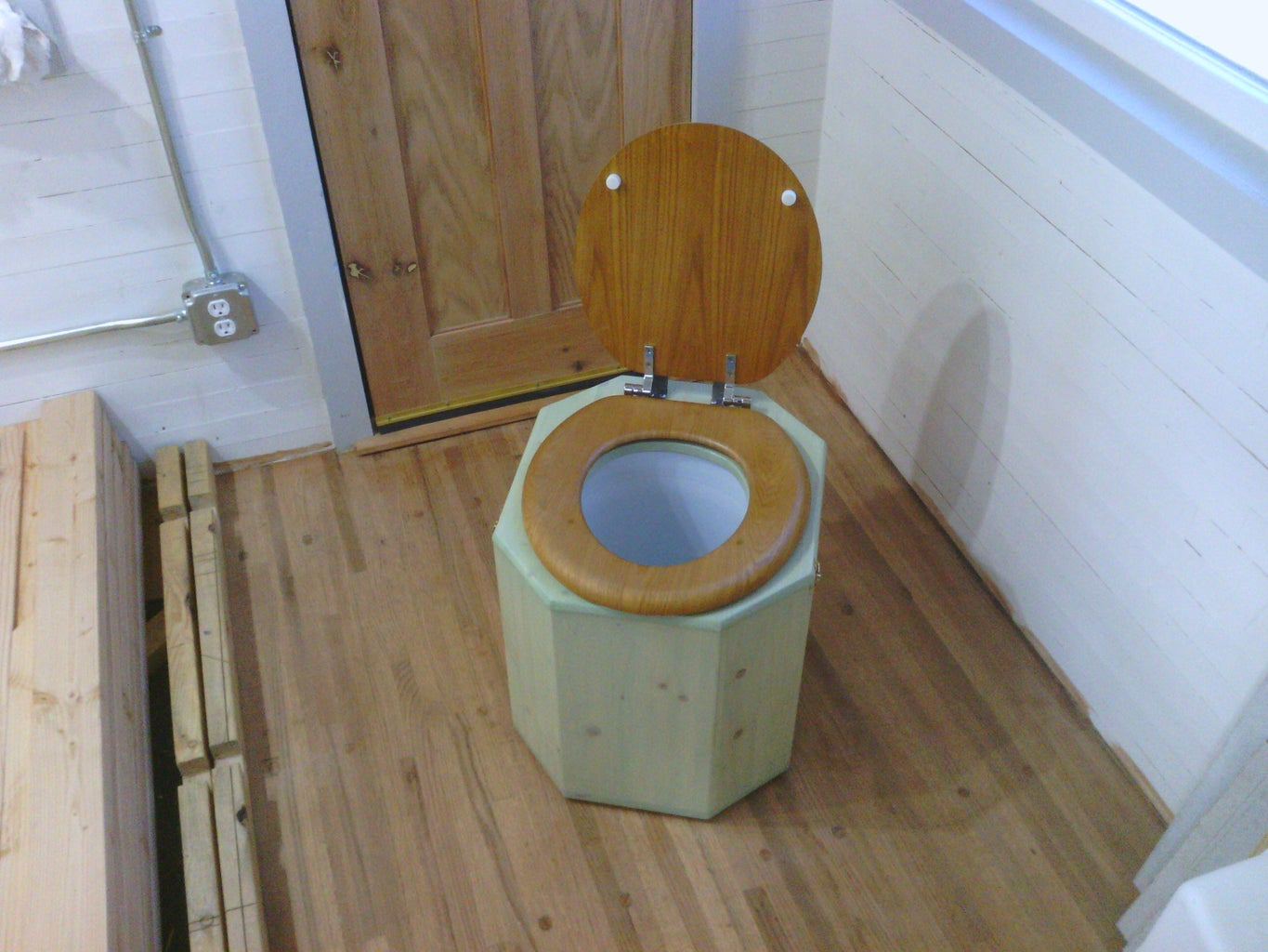 Staining and Varnishing the Toilet, and the Finished Product!