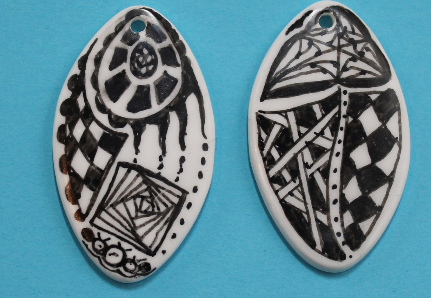 Seal the Ink Drawing With Translucent Liquid Polymer Clay