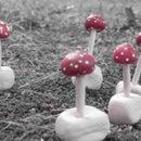 Mini clay mushroom toadstools