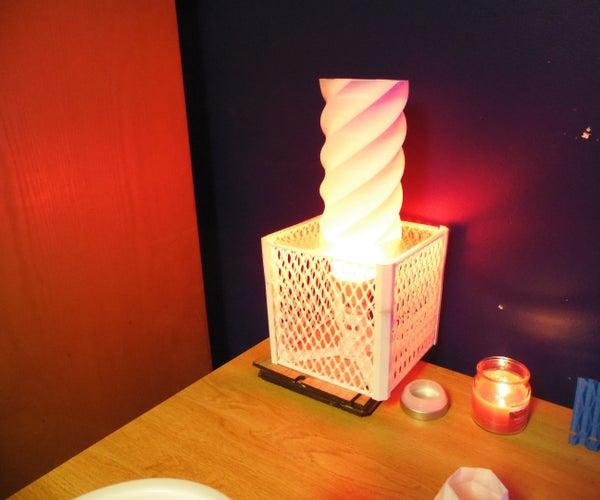 Customizable 3D Printed Laser Cut Lamp