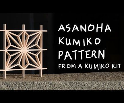 How to Do Kumiko Woodworking: Asanoha Pattern