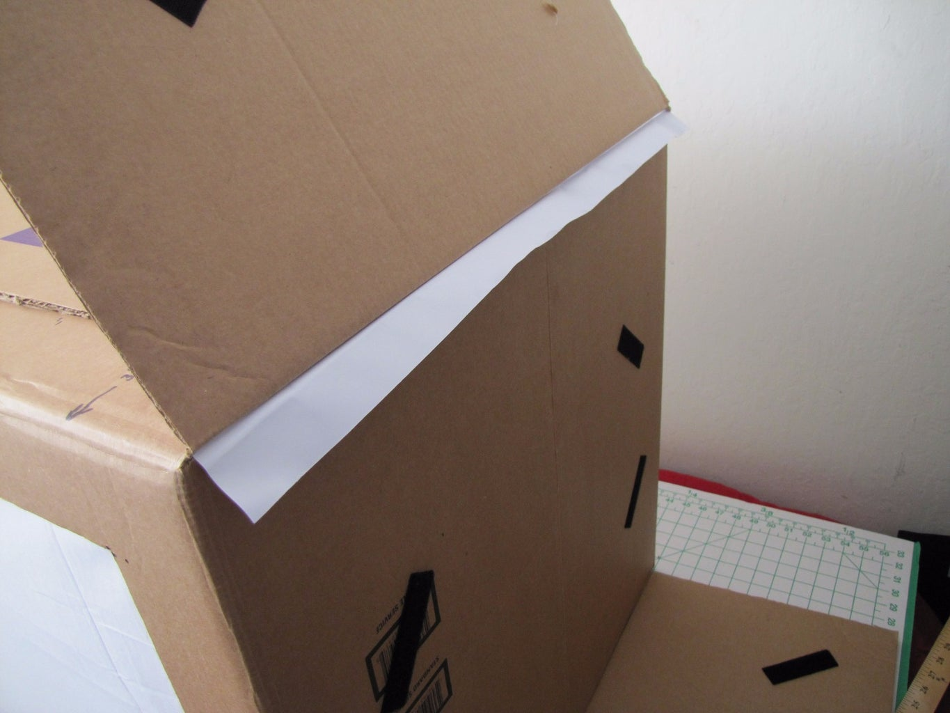 Mount the Background Sheet Inside the Box
