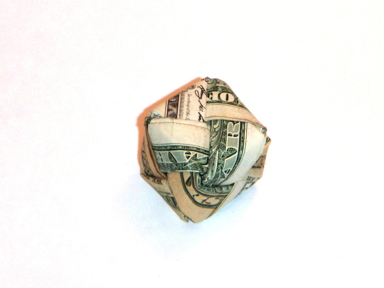 Dollar Bill Origami Cube