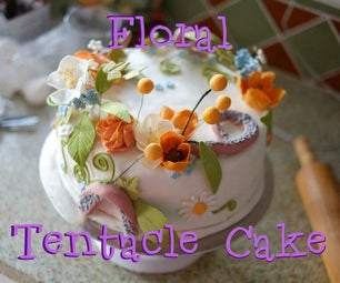 Floral Tentacle Cake