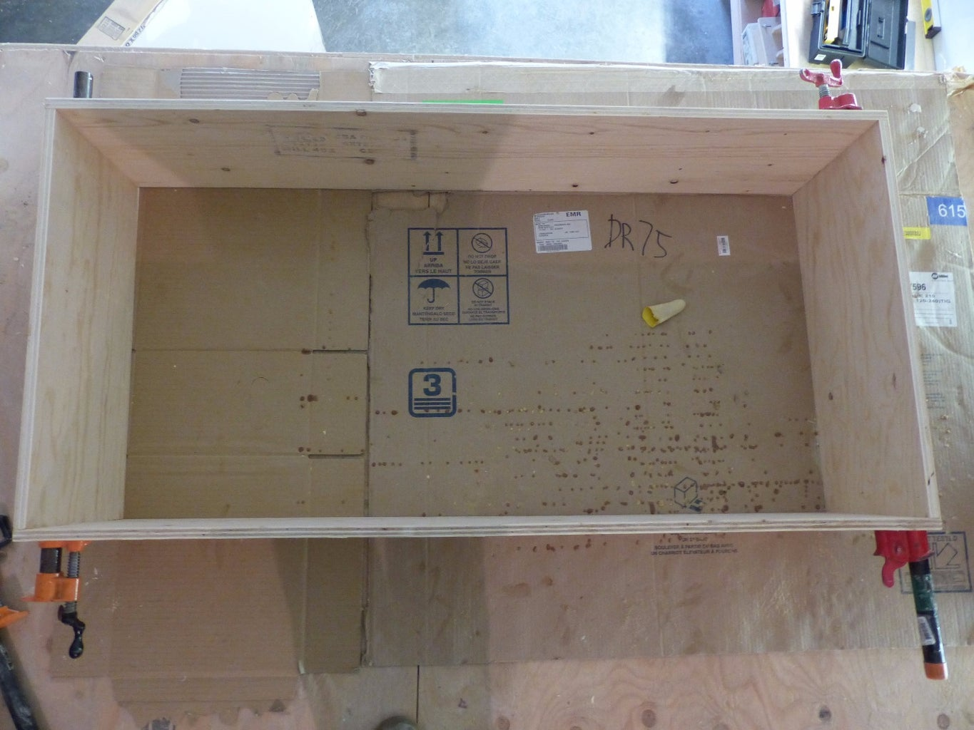 Assembly of Cabinet and Shelf