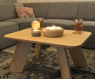 Easy Modern Plywood Coffee Table!