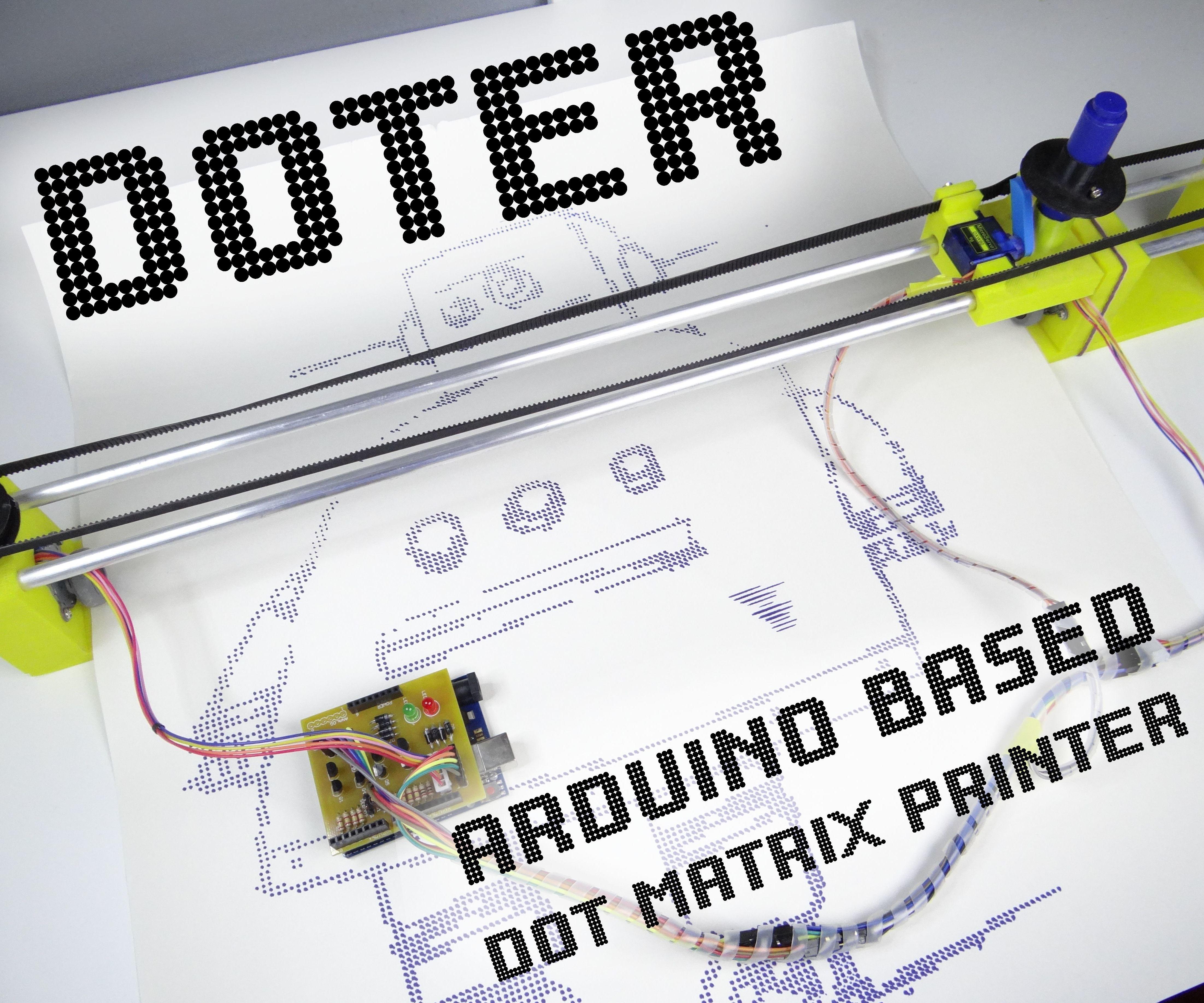 Doter - Huge Arduino Based Dot Matrix Printer
