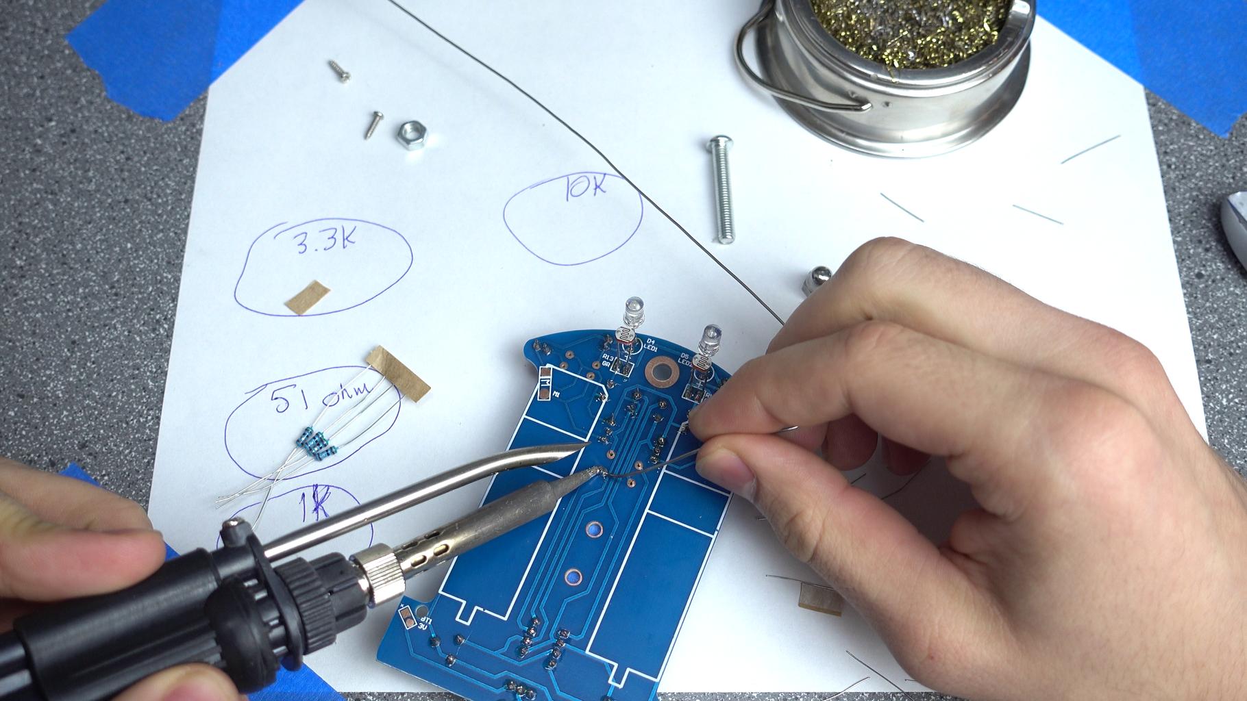 Soldering: Resistors