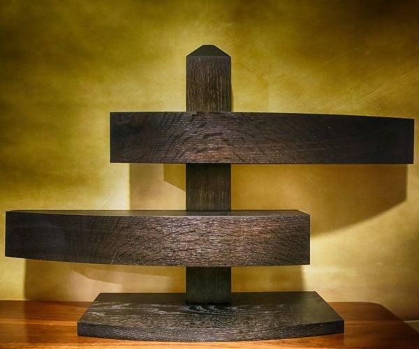 Pedestal Box From One Board (Ebonized!)