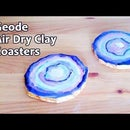 Easy Geode Coasters No Resin