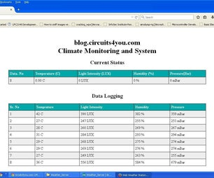 Arduino Web Weather Server