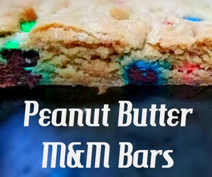 Heavenly Peanut Butter M&M Bars
