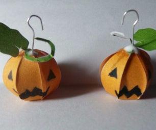 DIY Halloween Pumpkin Earings
