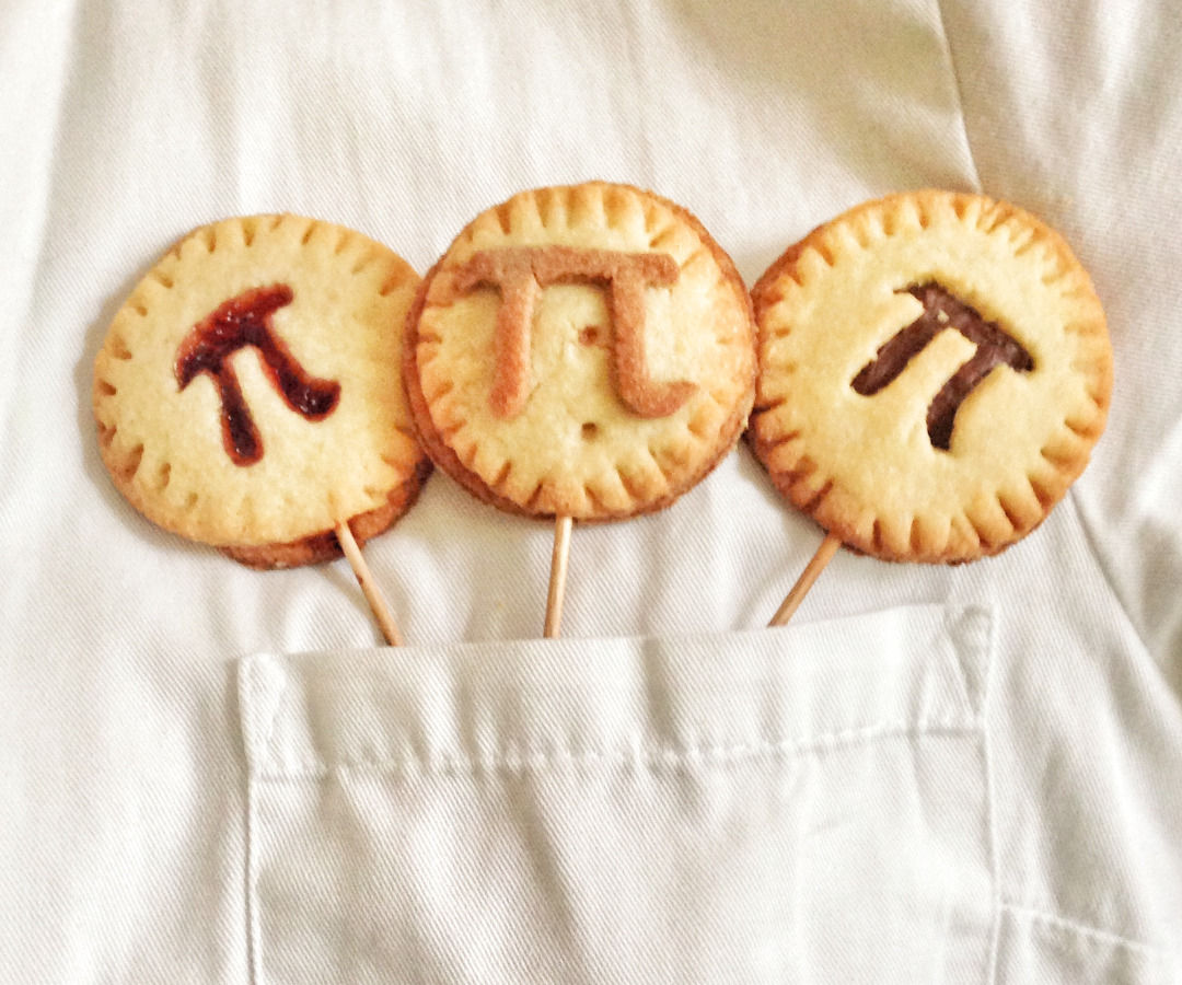 Pi(e) Pops with rasperry and chocolate filling - Easy, quick and tasty