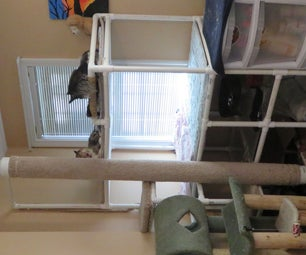 Cat Tower With 6 Foot Scratching Pole