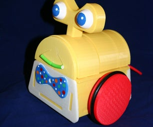 Tyree--the Smiling, Tail Wagging, Sensor Less 3d Printed Robot