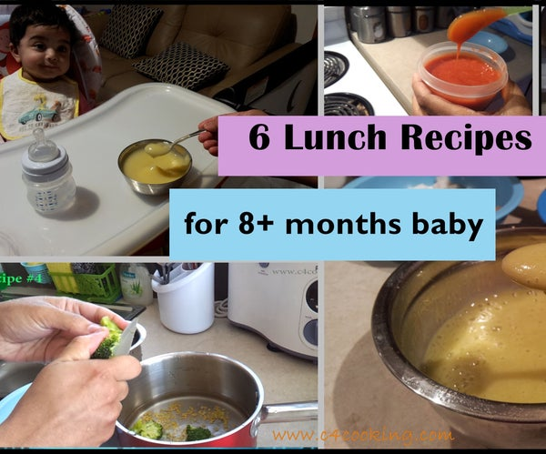 6 Lunch Recipes for 8+ Months Baby   Stage 3 - Homemade Baby Food Recipes