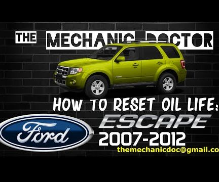 How to Reset Oil Life: Ford Escape 2007-2012