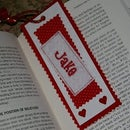 Personalized Valentine's Bookmark