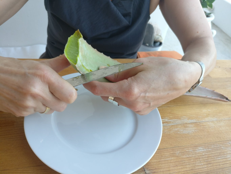 Cut a Piece of Leaf