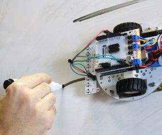 Arduino Line Follower Wallrides Classroom Whiteboard