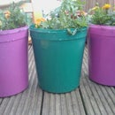 Make your own colourful plant pots
