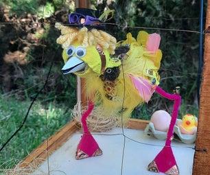 TELEKING -  the Robotic-puppet Chicken (3D PRINTER FREE)