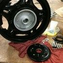 Convert your Honda wheel to a disc brake