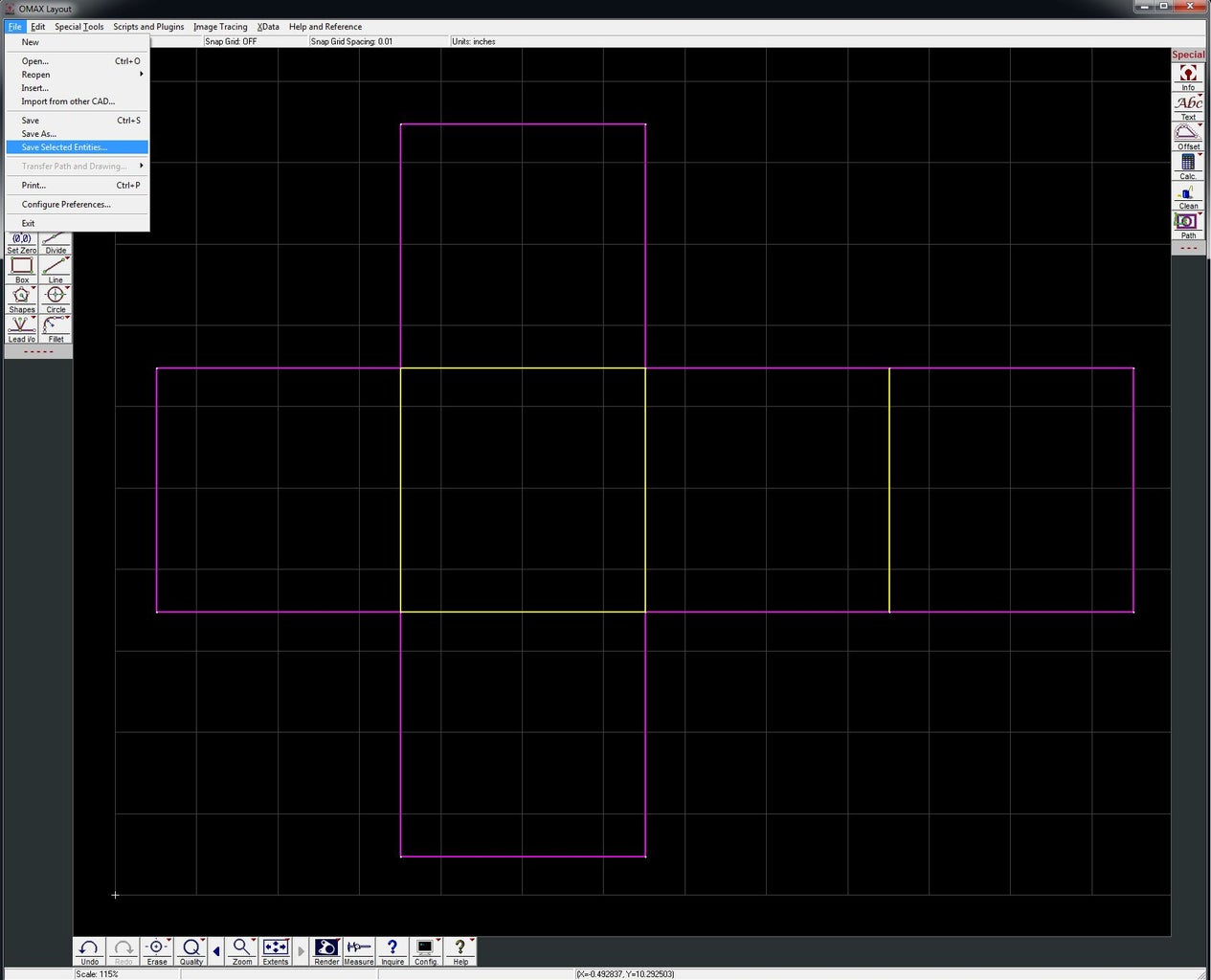 Save Seperate Dxf's in Omax Layout
